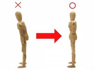姿勢の悪い人形と良い姿勢の人形