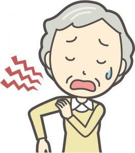 肩が痛い60代女性